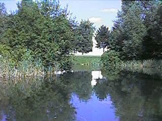 The bottom lake, looking towards the Zero-X hanger
